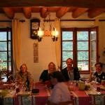 Supper with fellow guests - a must!