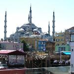 View of the Blue Mosque from the roof