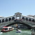 Just round the corner from Rialto Bridge