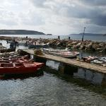 Methoni fishing boats in the port