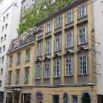 front (Mozart stayed in the old part)