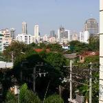 View of Downtown Bangkok from room at Napa Place