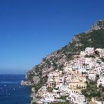 View of Positano from the balcony