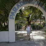 Gate entrance from the beach