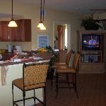 Kitchen/master room in back