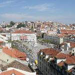 View of Rossio square from nearby Elevador Santa Justa