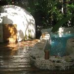 Piscina e igloo per massaggi maya