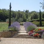 The pathway up to the pool.