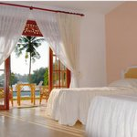 The spacious double rooms are furnished to a high standard