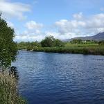 Laune River behind the Laune Lodge