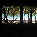 La impresionante vista al Caribe desde el comedor