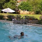Atttractive outdoor swimming pool
