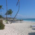 a perfect white beach