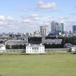stunning views from top of hill in Greenwich Park
