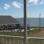 View from the balcony of restaurant and Lake Erie