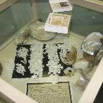 Pearl display case in museum.