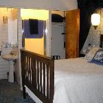 glacier room with closet bathroom