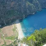 A view of the valley, Faralya, near Olu Deniz, Turkey,  taken from about 1500 feet above the...