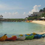 The Kayaks on the shore of the private beach