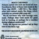 Information about rock carvings