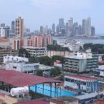 Asi se ve la ciudad de Panama desde el piso 12 del hotel Soloy