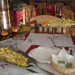 Food in the Pedra Alta restaurant