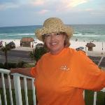 Taken from the balcony with the beautiful Destin Beach in the background