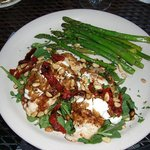 Chicken with chevre, sun-dried tomatoes and pine nuts