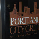 Sign at the Portland City Grill