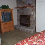 fireplace in bedroom, tv, vcr, dvd
