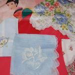 Handmade Handkerchiefs at the Latimer Quilt and Textile Center, Tillamook, Oregon