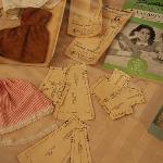 Paper Doll display at Latimer Quilt Center