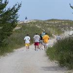 Gravel road leading to Big Sable Point Lighthouse