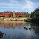 Lodge across lake
