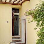 The door to La Rosa suite.