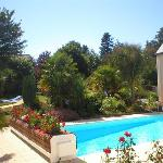 The pool at the Hotel Aigue Marine, Treguier