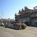 The front of the Hotel Aigue Marine, Treguier