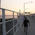 Walkway up the bridge