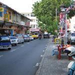 View of Jalan Gaya taken from central divider