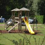 One of the many climbing frames