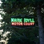 Maine Idyll Motor Court Route 1 sign