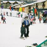 2 yr old skiing