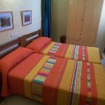 My room at the Hostal Virgen del Rocio