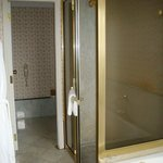 The shower and the restroom