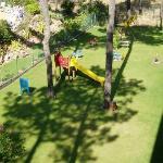 Balcony to kids playground