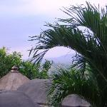 View of Borobudur from our villa