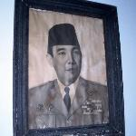 Bung Karno at a young age, a photo on the wall in the Sang Fajar suite living room