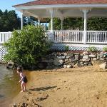 Beach and pavillion