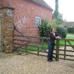 Pat at the rear gate