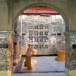 Glass Palace detailed Pagoda at the top of Mandalay Hill